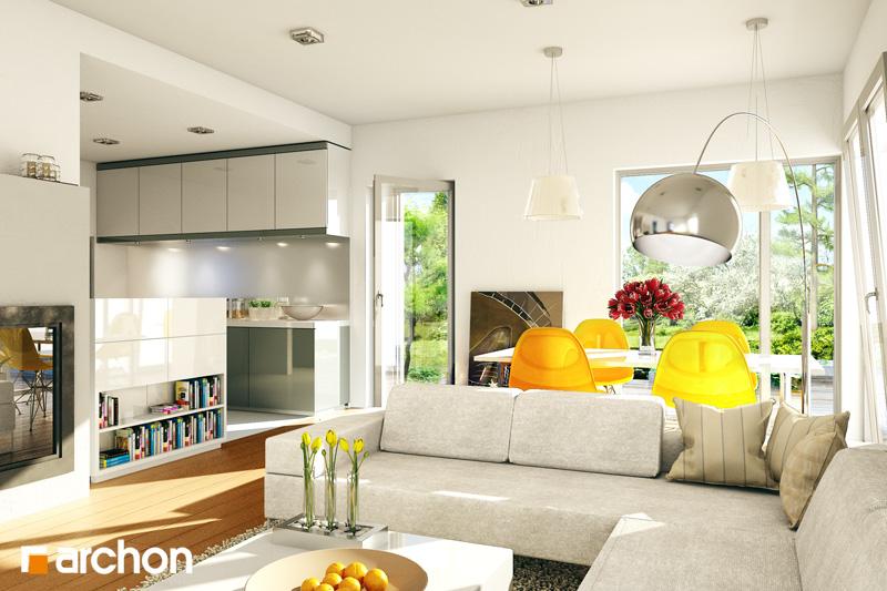 Проект дома ARCHON+ Дом в кротонах - Интерьеры
