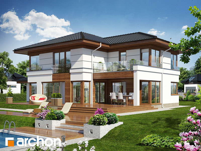 Проект дома ARCHON+ Вилла Вероника 3 - Визуализация 1