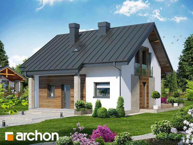 Проект дома ARCHON+ Дом Миниатюрка (Н) - Визуализация 1