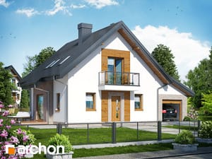 Проект дома ARCHON+ Дом в рододендронах 4 (H)