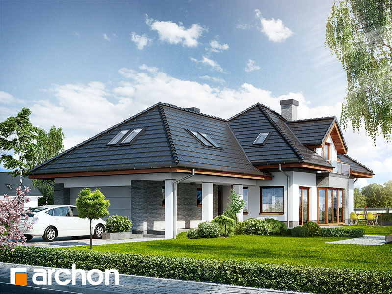 Проект дома ARCHON+ Дом в санвиталиях - Визуализация 1