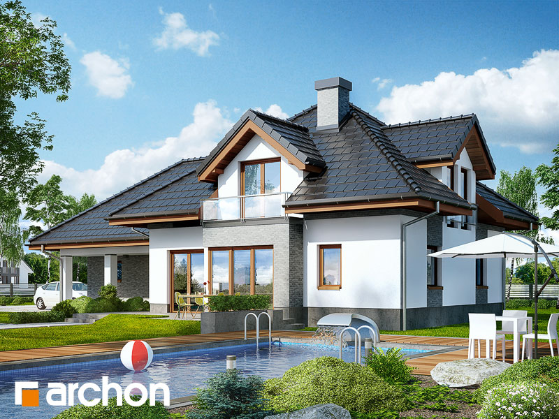 Проект дома ARCHON+ Дом в санвиталиях - Визуализация 2