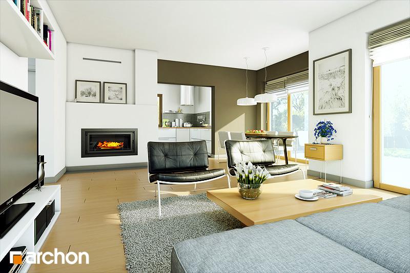 Проект дома ARCHON+ Дом в санвиталиях - Интерьеры