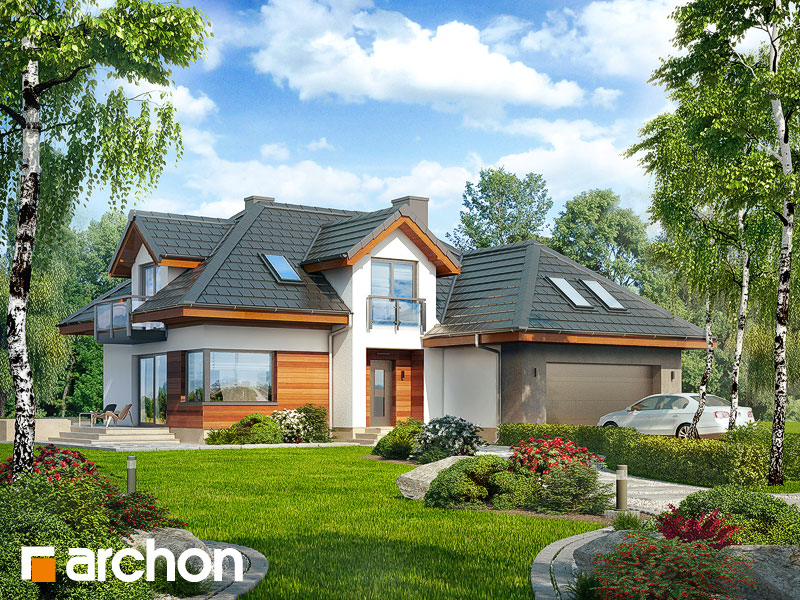 Проект дома ARCHON+ Дом в камелиях (Г2H) - Визуализация 1