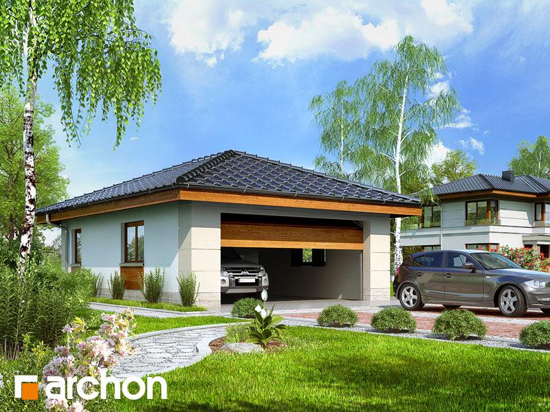 Проект дома ARCHON+ Г18 - Двухместный гараж - Визуализация 1