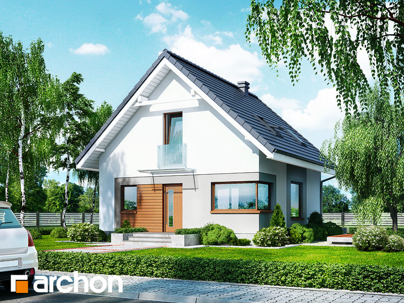 Проект дома ARCHON+ Дом в рододендронах 11 (H) - Визуализация 1