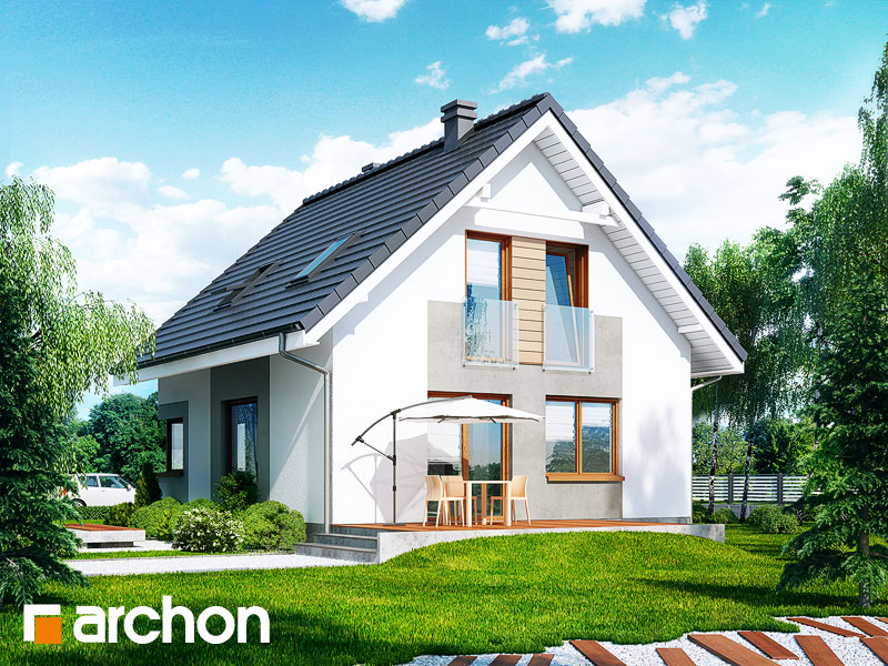 Проект дома ARCHON+ Дом в рододендронах 11 (H) - Визуализация 2