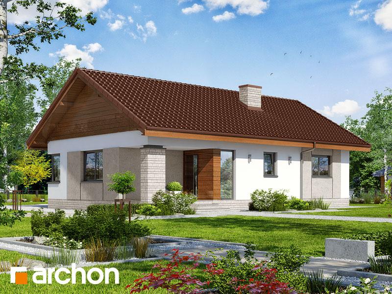 Проект дома ARCHON+ Дом в плодолистике - Визуализация 1