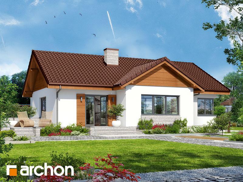 Проект дома ARCHON+ Дом в плодолистике - Визуализация 2