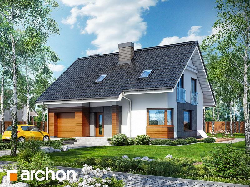 Проект дома ARCHON+ Дом в яблонках - Визуализация 1