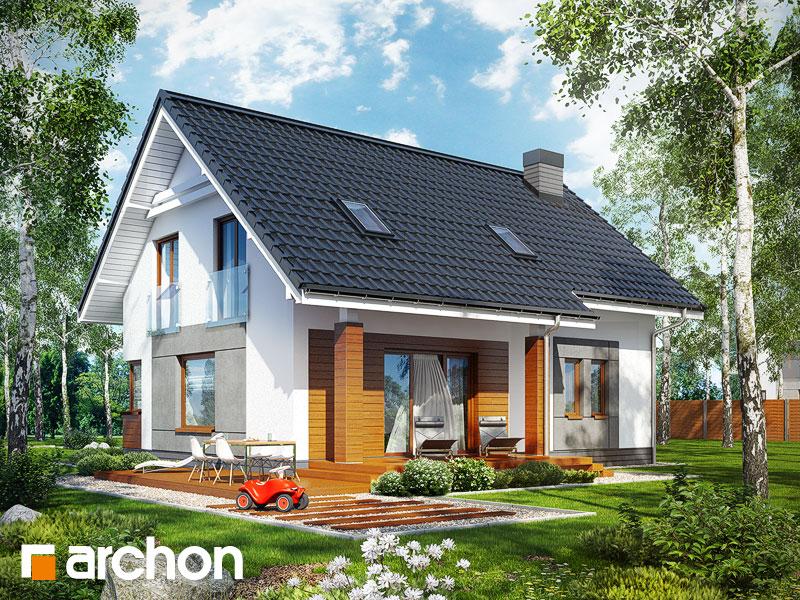 Проект дома ARCHON+ Дом в яблонках - Визуализация 2