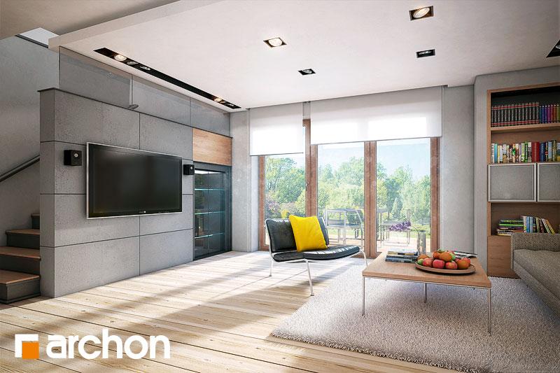 Проект дома ARCHON+ Дом в яблонках - Интерьеры