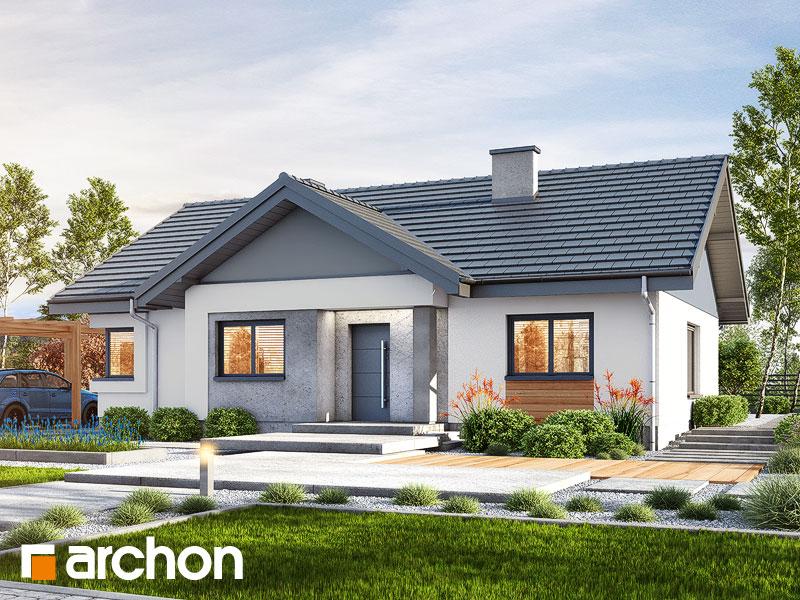 Проект дома ARCHON+ Дом в лещиновнике - Визуализация 1