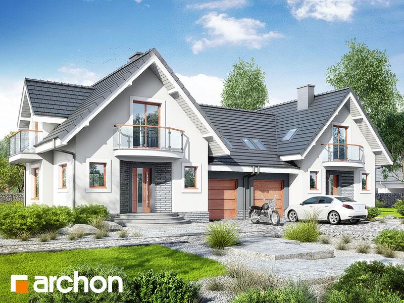 Проект дома ARCHON+ Дом в антоновке (Р2) - Визуализация 1