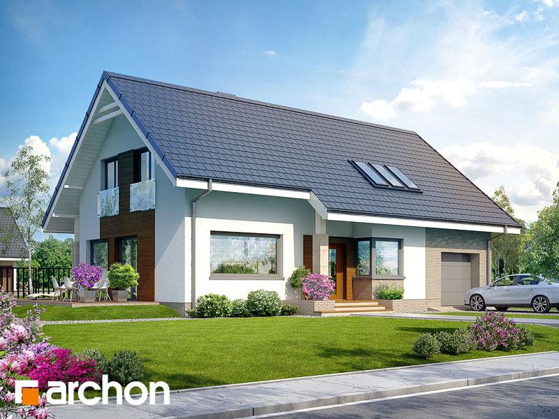 Проект дома ARCHON+ Дом в бугенвиллеях - Визуализация 1