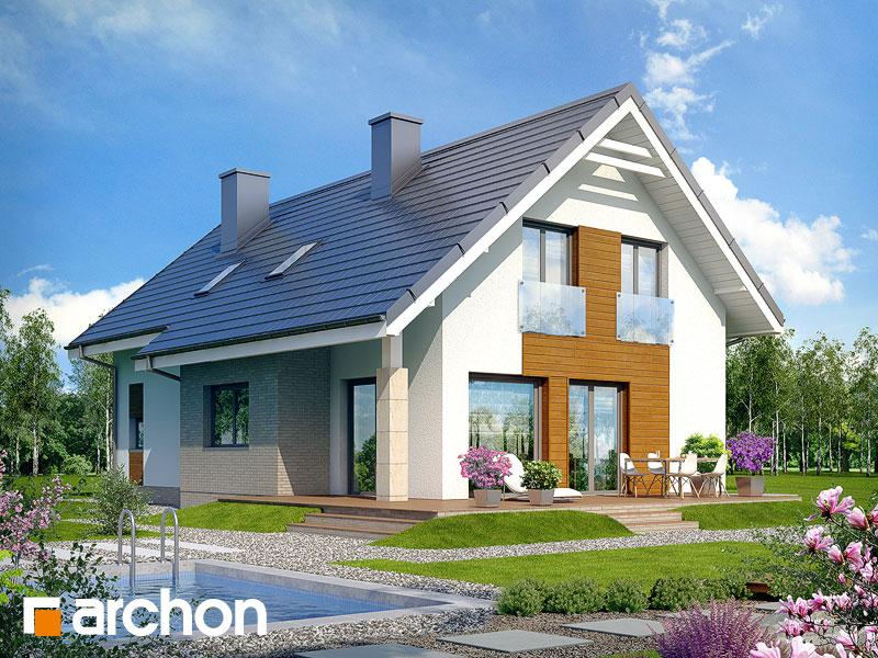 Проект дома ARCHON+ Дом в бугенвиллеях - Визуализация 2