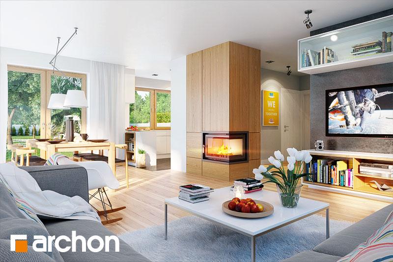 Проект дома ARCHON+ Дом в бугенвиллеях - Интерьеры