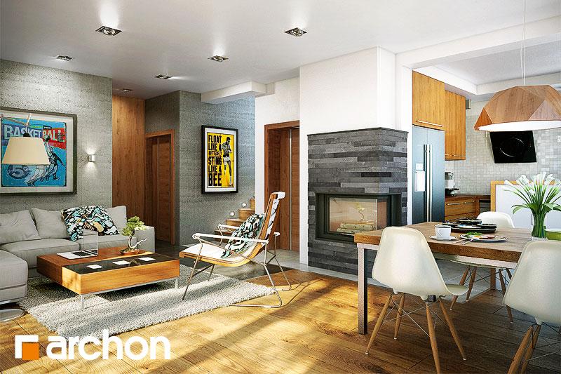 Проект дома ARCHON+ Дом в журавках (П) - Интерьеры