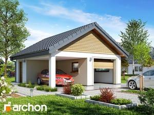 Проект дома ARCHON+ Г19 - Одноместный гараж
