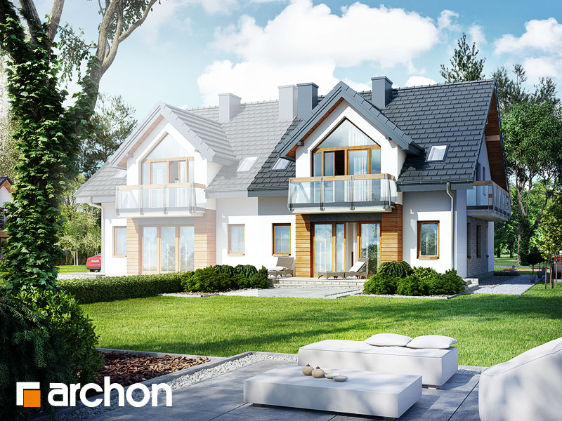 Дом в малине (A) - Визуализация 2