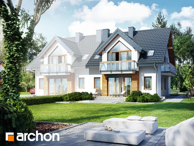 Проект дома ARCHON+ Дом в малине (A) - Визуализация 2