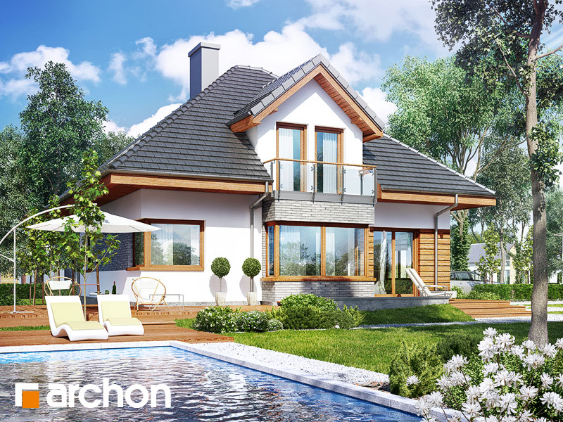 Проект дома ARCHON+ Дом в рукколе 2 (Г2H) - Визуализация 2