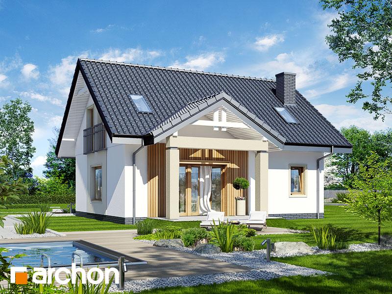 Проект дома ARCHON+ Дом под вербой - Визуализация 2