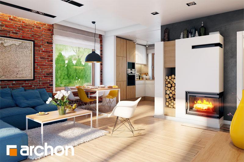 Проект дома ARCHON+ Дом под вербой - Интерьеры