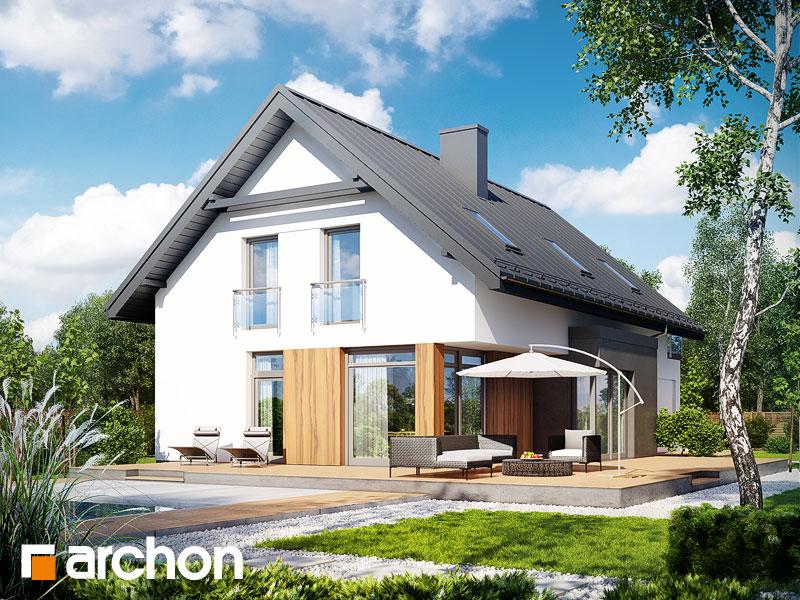 Проект дома ARCHON+ Дом под хикорой - Визуализация 2