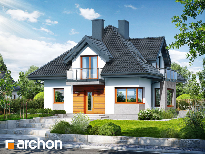 Дом в багрянике - Визуализация 1