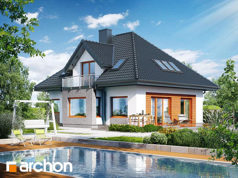 Проект дома ARCHON+ Дом в багрянике - Визуализация 2
