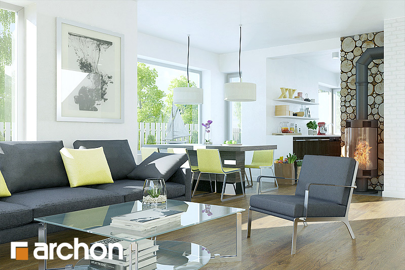 Проект дома ARCHON+ Дом в багрянике - Интерьеры