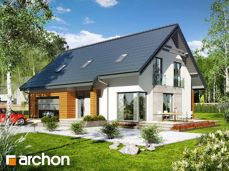 Проект дома ARCHON+ Дом в яблонках 3 (Г2) - Визуализация 1