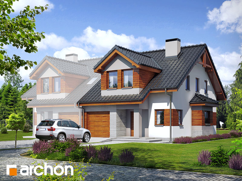 Проект дома ARCHON+ Дом в клематисах 9 (БT) - Визуализация 1