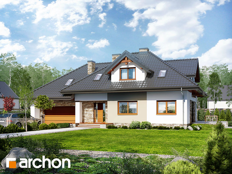 Проект дома ARCHON+ Дом в каннах 2 (П) - Визуализация 1
