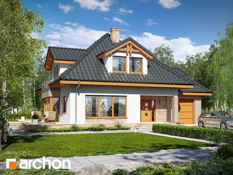 Проект дома ARCHON+ Дом в чернушке (Г) - Визуализация 1