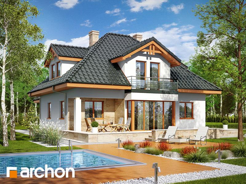 Проект дома ARCHON+ Дом в чернушке (Г) - Визуализация 2