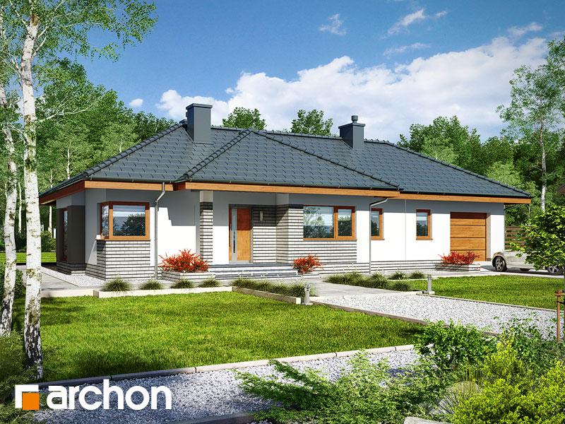 Проект дома ARCHON+ Дом в грушках (Г) - Визуализация 1