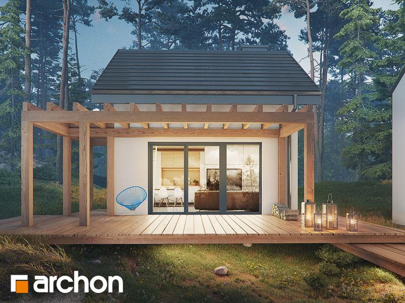 Проект дома ARCHON+ Летний домик в крокусах 4 (А) - Визуализация 1