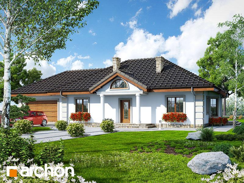 Проект дома ARCHON+ Дом под красной рябиной (Г2) - Визуализация 1