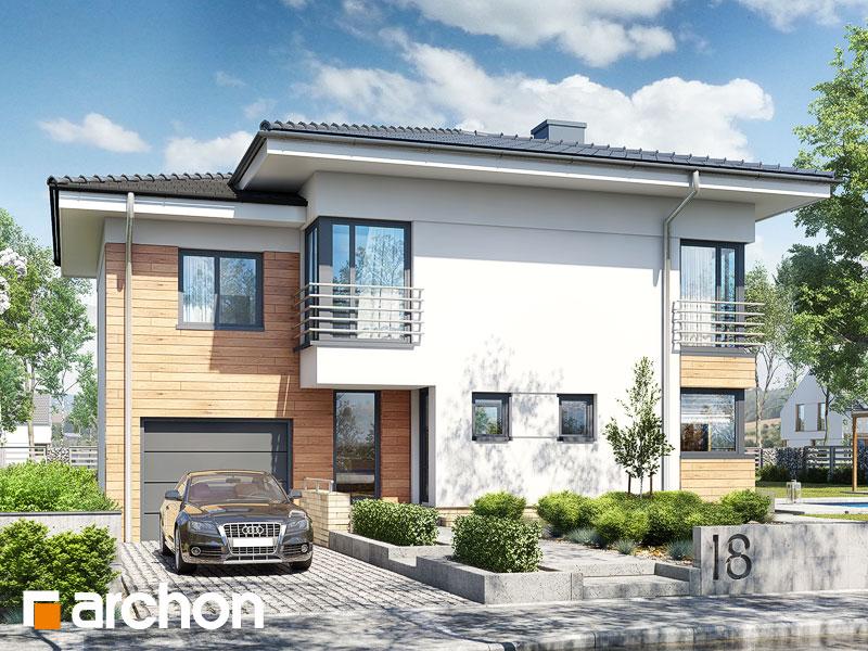 Проект дома ARCHON+ Дом в мирте 5 - Визуализация 1
