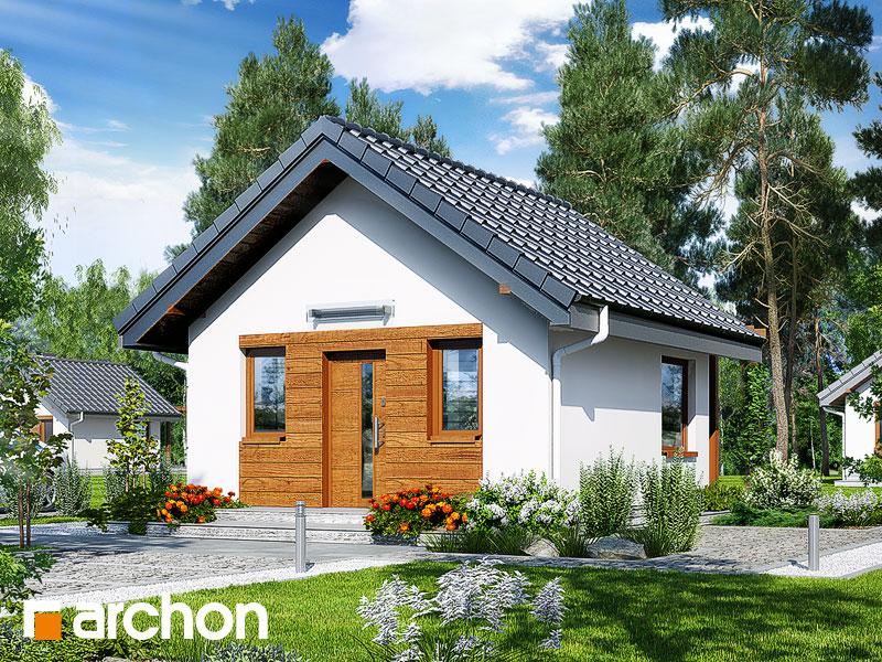 Проект дома ARCHON+ Летний домик в крокусах 2 - Визуализация 1