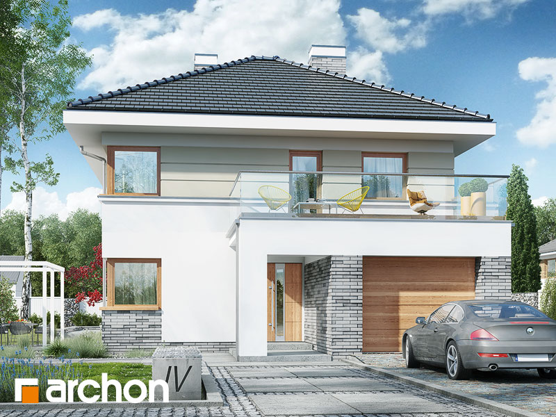 Проект дома ARCHON+ Вилла Сесилия - Визуализация 1