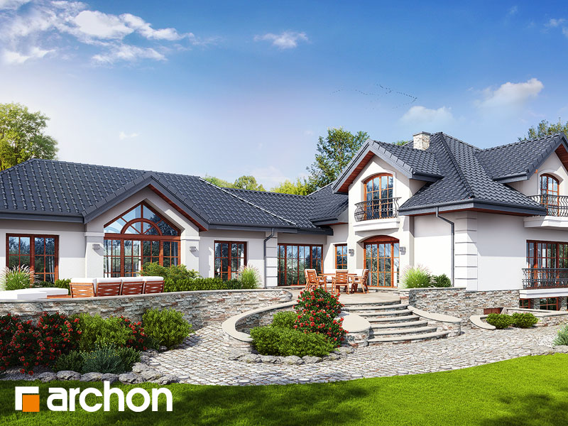 Проект дома ARCHON+ Резиденция в персимонах 3 - Визуализация 1