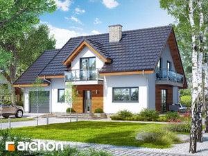 Проект дома ARCHON+ Дом в красных кустах