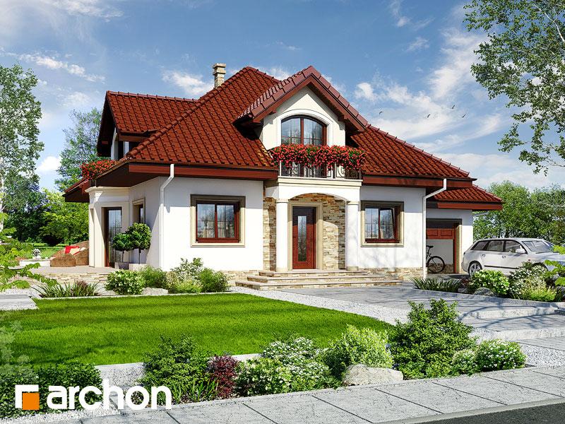 Проект дома ARCHON+ Дом в чубушнике - Визуализация 1