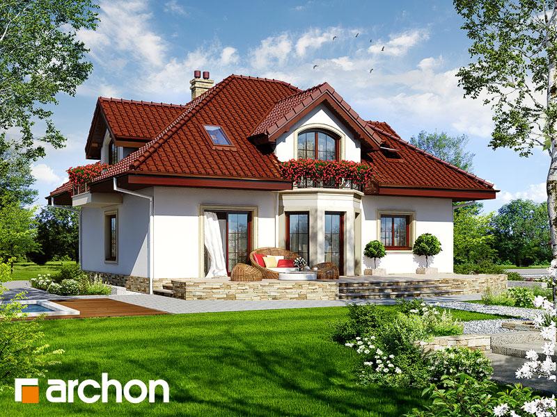 Проект дома ARCHON+ Дом в чубушнике - Визуализация 2