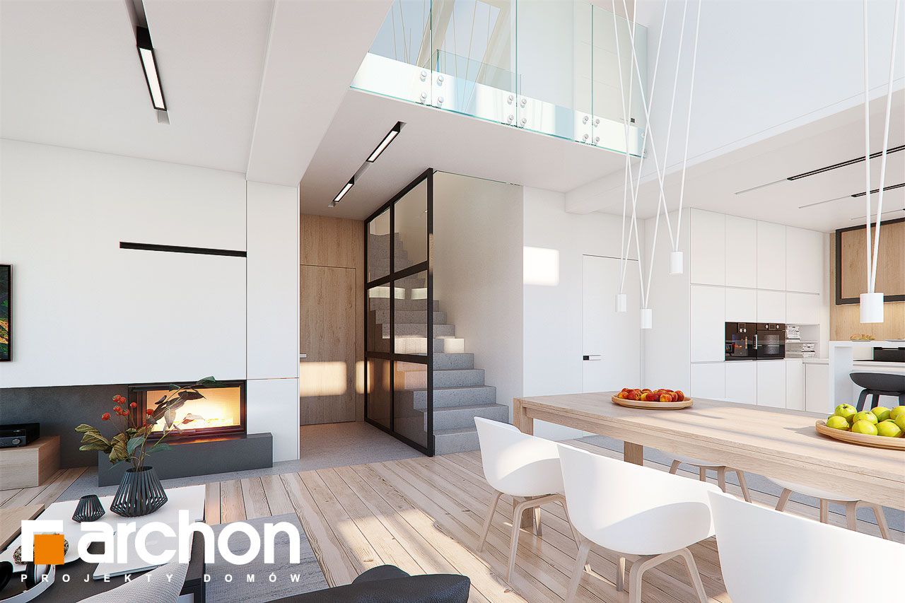 Проект дома ARCHON+ Дом в аморфах 2 (Г2А) - Интерьеры