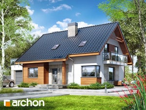 Проект дома ARCHON+ Дом в яблонках 4 (Г)
