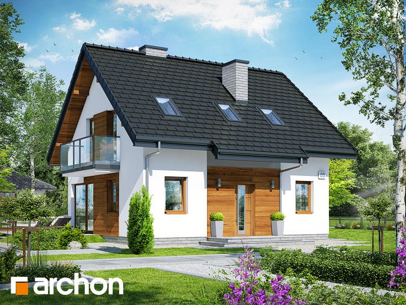 Проект дома ARCHON+ Дом в бруснике 4 - Визуализация 1